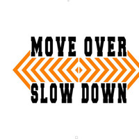 Move over Slow down tow truck driver rear window decal 2 color design
