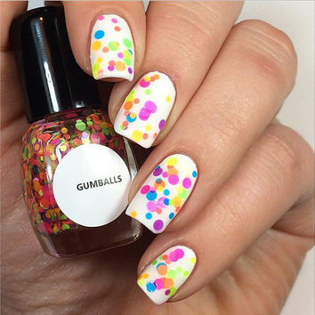 Gumballs - Handmade Nail Polish Full Bottle