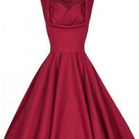 BEST SELLER Red Sleeveless Made-to-Order Retro 50s Pinup Girl Rockabilly Style Dress by After The Rain - Brides & Bridesmaids - Wedding, Bridal, Prom, Formal Gown