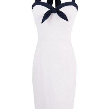Reduced To Clear - Hello Sailor Pin Up Wiggle Dress