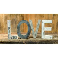 Love Wooden Words Primitive Display