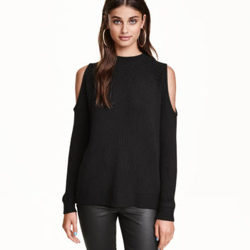 H&M Rib-knit Open-shoulder Sweater $29.99