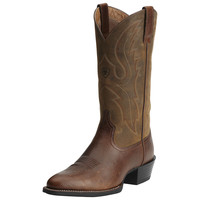 Ariat Mens Sport R Toe Western Leather Cowboy Boots