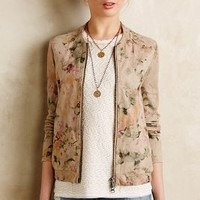 Foiled Flora Suede Bomber by Muubaa Neutral Motif