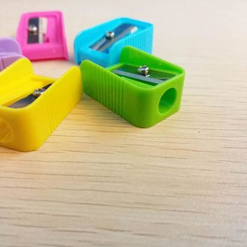 1pcs Pencil Sharpener colorful Mini Cutter Knife Promotional Gift Stationery For Students