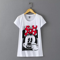 Summer Women's Fashion Cartoons Pattern Cotton T-shirts [6513419911]