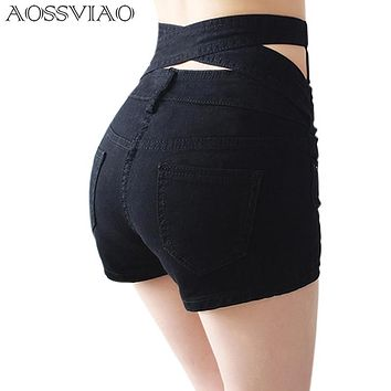 Short Femme Korean Style Women High Waist Short t De Cintura Alta Slim Fit Basic Female Hot Shorts Cortos Mujer Bermuda Feminina