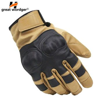 US Military Tactical Gloves Outdoor Sports Army Finger Bicycle Motocycle Slip-resistant Carbon Fiber Combat Tortoise Shell Glove