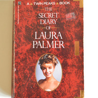 Vintage Twin Peaks Book. The Diary Of Laura Palmer 1990 First Edition. Twin Peaks David Lynch Television Collectible.