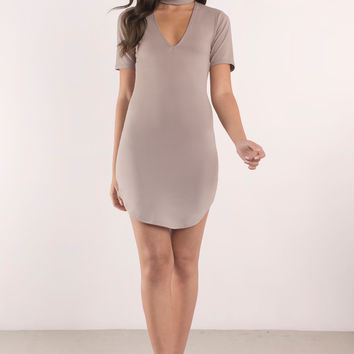 Crystal Choker Bodycon Dress