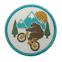 WHEELIE BEAR MOUNTAIN BIKE PATCH