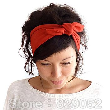 fb003f39a8d Ear Elastic Headband for Woman Girl Knot Bandage Hairband Turban Headbands  Headwrap Bandana Headwear Hair Accessories
