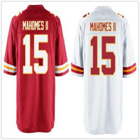 2017 New Draft Picks NO.10 #15 Patrick Mahomes II Jersey Mens White Red Stitched Patrick Mahomes II Jerseys Accept Mix Orders