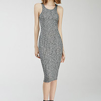 Marled Rib-Knit Racerback Dress