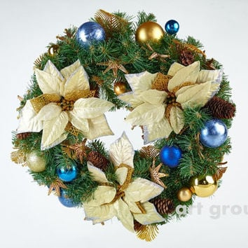 Christmas Door Wreath Holiday New Year Gift Decoration Traditional Charm for home!
