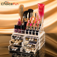 CHOICEFUN Acrylic makeup organizer rangement make up organizer cosmetic organizador de maquiagem makeup storage drawers SF-1156