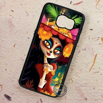 Sugar Skull Mask Girl - Samsung Galaxy S7 S6 S5 Note 7 Cases & Covers
