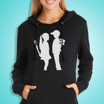 Banksy Girl And Boy Relationship Mean Women'S Hoodie