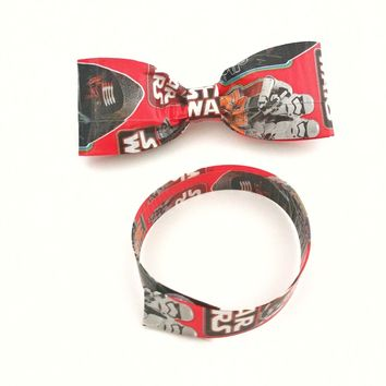 Cool Red Bow Ties For Men, Star Wars Clip On Bow Tie, Fun Men's Ties