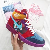 Air Jordan 1 Mid Yots Aj1 @fofdesigns 558059 101 | Best Deal Online