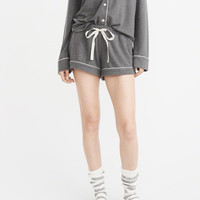 Womens Menswear Pajama Short | Womens New Arrivals | Abercrombie.com