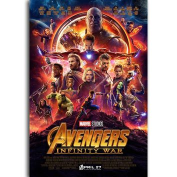 S1 2018 New Movie Avengers Infinity War Marvel Superhero Wall Art Painting Print On Silk Canvas Poster Home Decoration