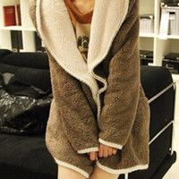 Camel Hooded Long Sleeve Multi Convertible Way Coat