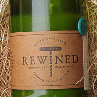 Rewined - Signature Riesling - Repurposed Wine Bottle - 11 oz Soy Wax Candle