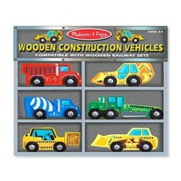 Melissa & Doug Wooden Construction Vehicles