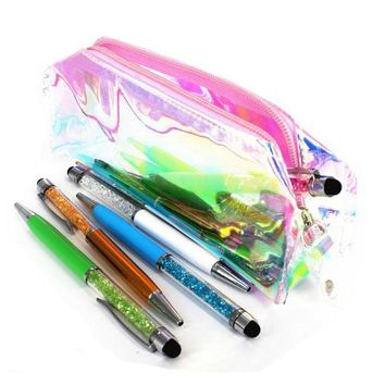 Cool laser transparent pencil student stationery bag