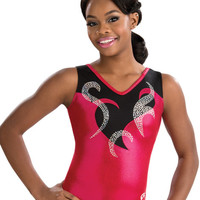 Blazing Cherry V-Neck Tank Leotard from GK Elite