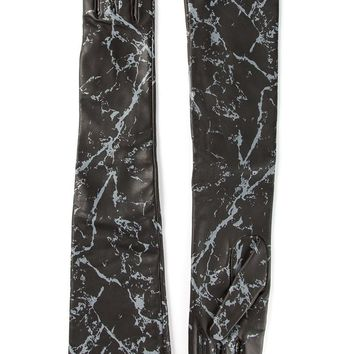 Causse marble effect long gloves