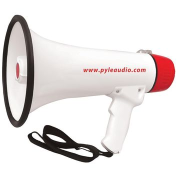Pyle Pro 40-watt Professional Megaphone And Bullhorn With Handheld Microphone And Siren, Rechargeable Battery & Auxiliary Jack PYLPMP48IR