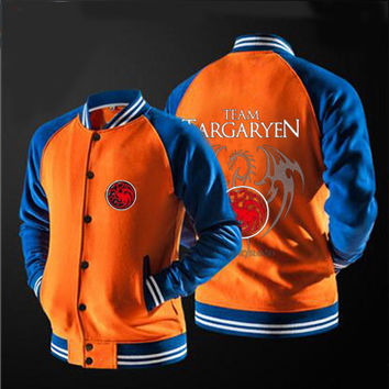 In 2017 FIFAI  the new free shipping Game Of Thrones House Of Targaryen  jacket sweater no hat,The highest quality, USA size.