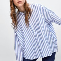 STRIPED BLOUSE DETAILS