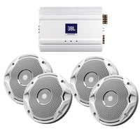 "JBL MS6510 Speakers & MA6004 Amp Package - (4) 6.5"" Speakers & (1) 4-Channel Amp"