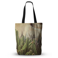"Jillian Audrey ""Green Grass Cactus"" Green Brown Everything Tote Bag"