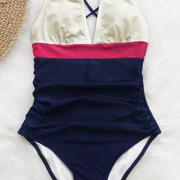 Cupshe Fashion Forward Halter One-piece Swimsuit