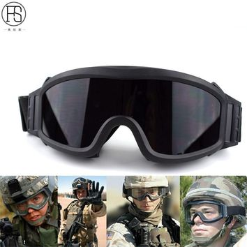 New Hot Sell Tactical Paintball Airsoft Safety Ballistic Goggle Motorcycle Windproof Wargame Military Glasses Whit 3 Lens