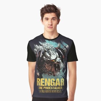 """League of Legends RENGAR - [The Pridestalker]"" Graphic T-Shirt by Naumovski 