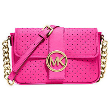 MICHAEL Michael Kors Handbag, Fulton Small Perforated Messenger Bag - Crossbody & Messenger Bags - Handbags & Accessories - Macy's