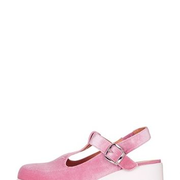 "Women's Topshop 'Fundar' T-Bar Platform Clog (Brit Pop-In), 2 1/2"" heel"