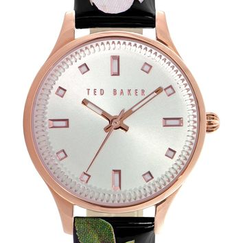 Ted Baker London 'Dress Sport' Patent Leather Strap Watch, 32mm | Nordstrom