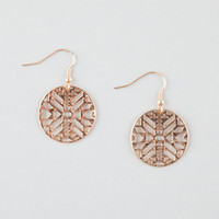 Full Tilt Cutout Tribal Disc Earrings Gold One Size For Women 25906771301