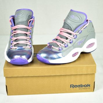 Womens Reebok Question Mid Girls Sz 7.5 Junior Classic NIB
