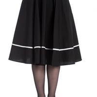 Bats 50's Black Cotton Halloween Skirt by Hell Bunny