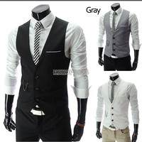 New Stylish Men Casual Slim Fit Two Button Shirt/ Vest Blazer Coat Jackets Suit