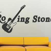Wall Decal Vinyl Sticker Decals Art Decor Design Guitar Electro Music Sign autograph Stone Song Band Rock Star Mans Gift Bedroom Dorm (r766)