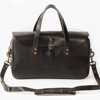 The Zip-Top Briefcase - Black