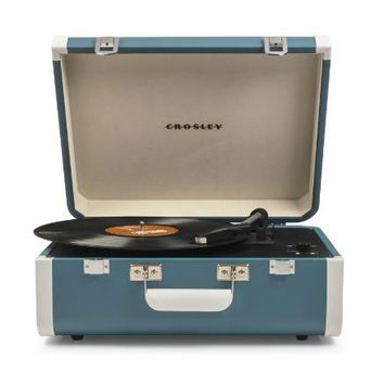 Crosley Portfolio Portable Bluetooth Turntable - Turquoise